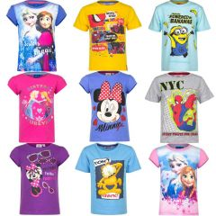 Gyerek póló mix 1 400 Ft  (kb 4,4 Euro) / darab áron kaphatók!  Minions, Frozen, Minnie, Spiderman, Skylanders,  Dora, Garfield, Paw Patrol, Princess, Cars, stb..